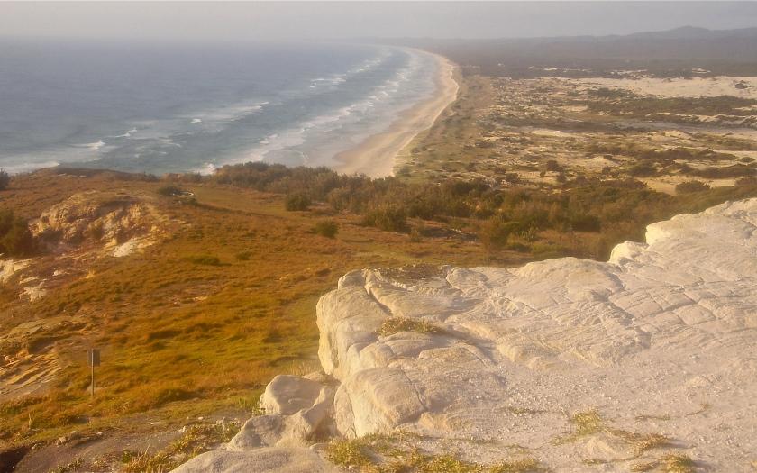 View south, ocean beach, from Cape Moreton