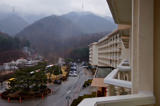 hotel & mountains