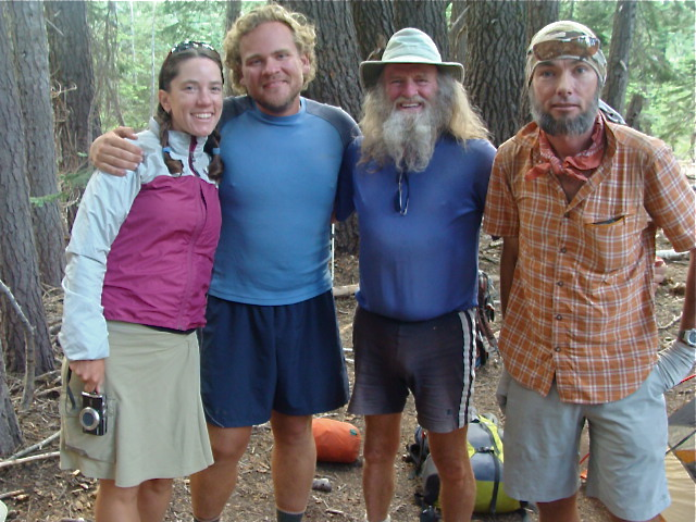 With Terrapin, Granite & legendary multiple thru-hiker Billy Goat, somewhere in the woods