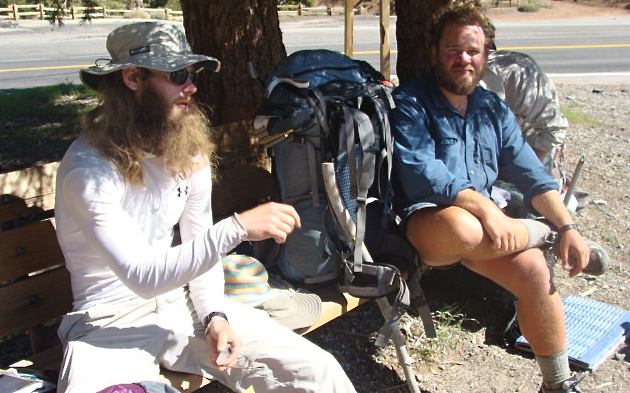 Dude & Granite before climbing Mt Baden Powell