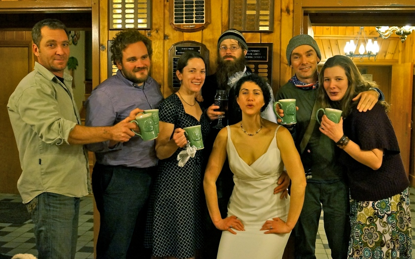 Hiker reunion at the wedding: Frog, Granite, Terrapin, Dude, Trouble, Me, Fidget
