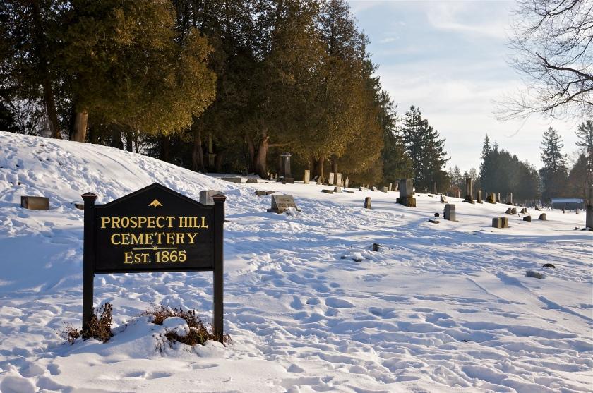 A romantic cemetery stroll
