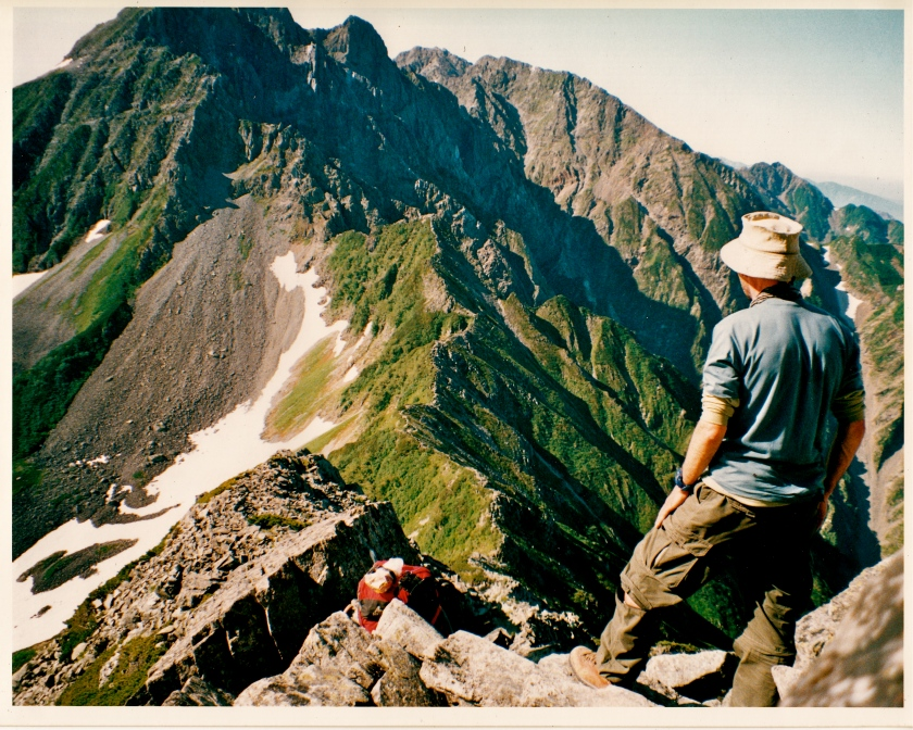 My fave self-portrait: descending the Daikiretto Ridge, Nth Alps, Japan