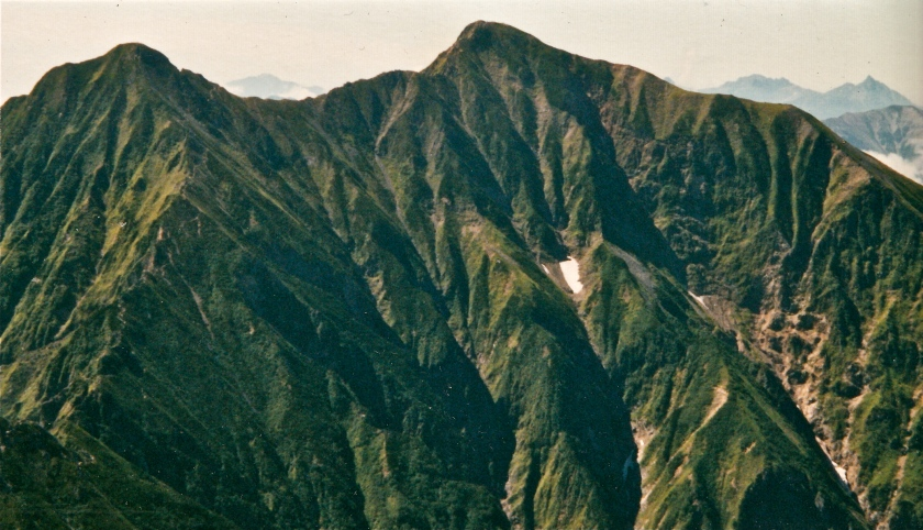 High peaks near Kita Dake, South Alps (scanned film).