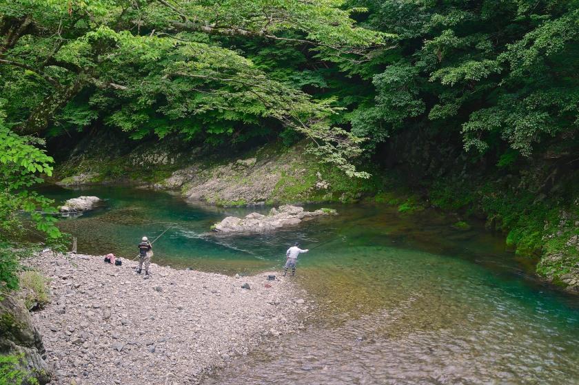 fly fishermen kumano kodo