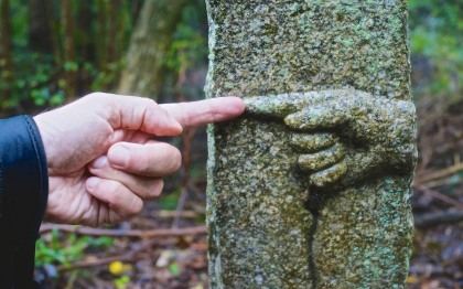 henro stone marker shikoku